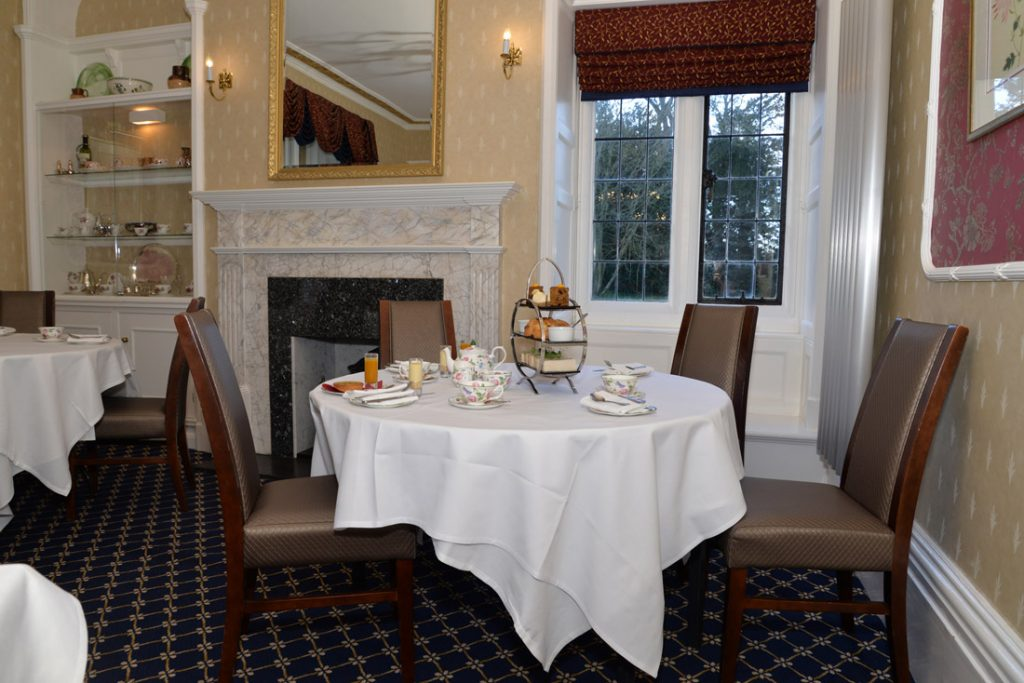Afternoon Tea in the Borelli Room at Chiseldon House, Wiltshire