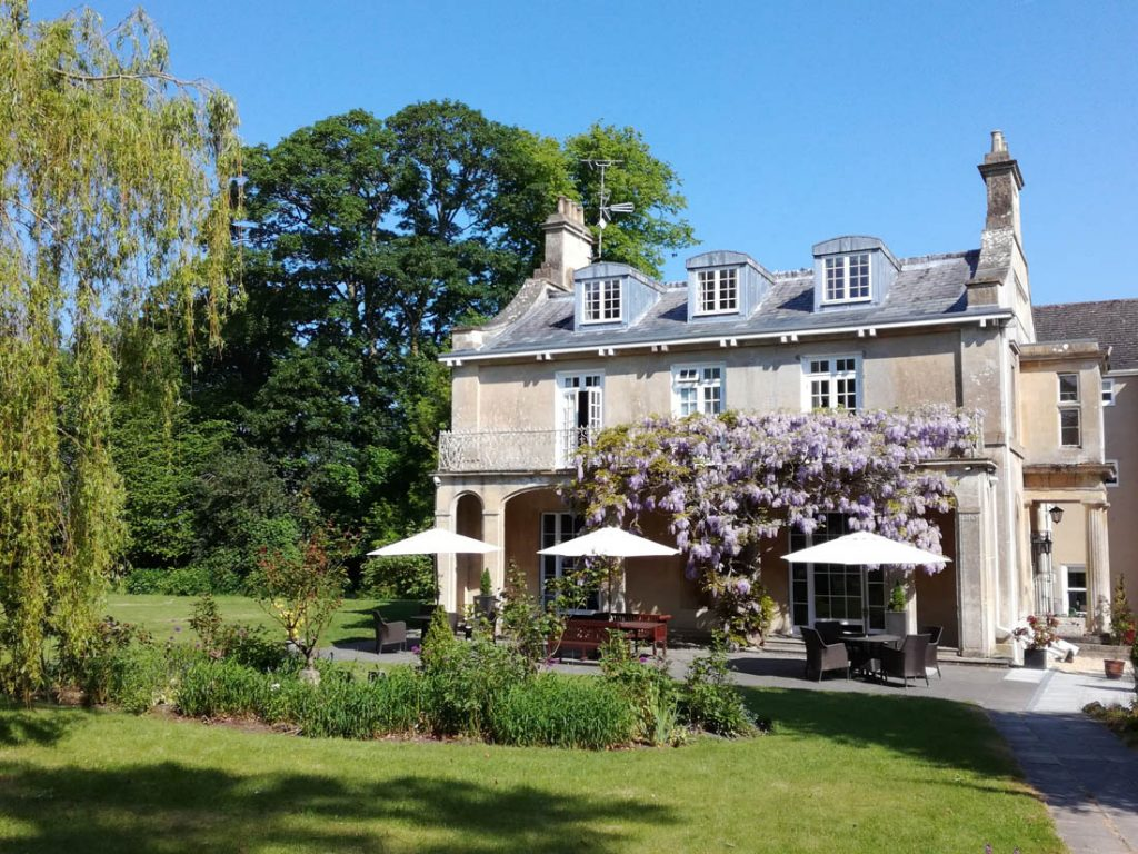 Chiseldon House Hotel & Restaurant with its wisteria in full summertime bloom