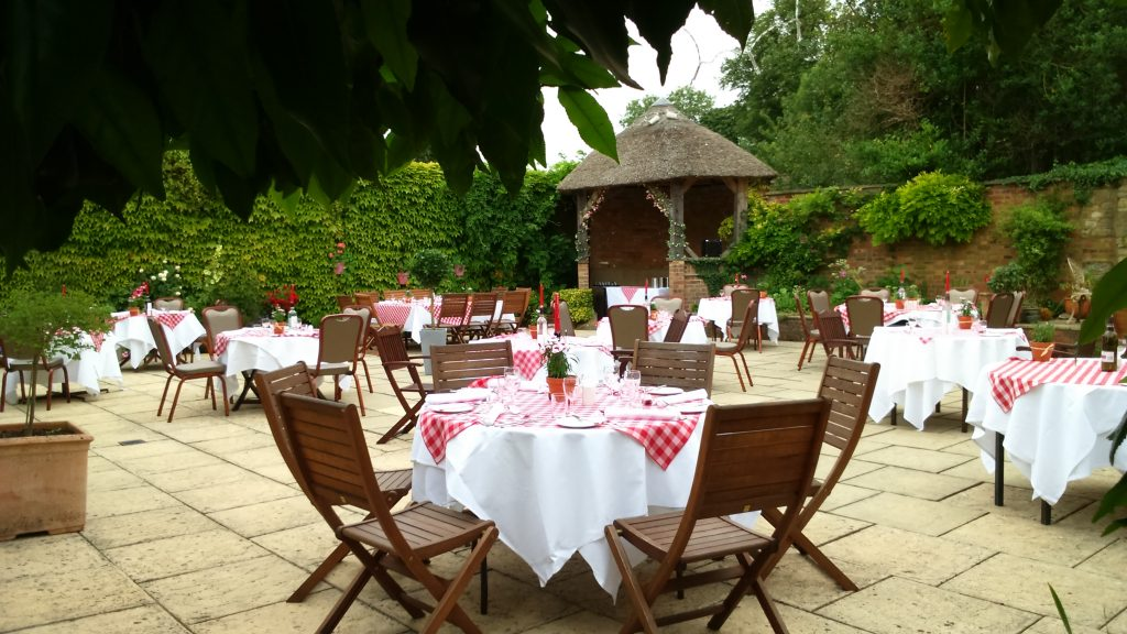Courtyard and Summer House Celebration Meal at Chiseldon House
